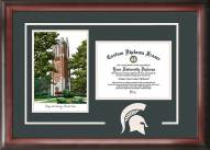 Michigan State Spartans Spirit Diploma Frame with Campus Image