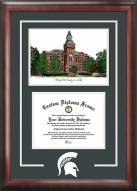 Michigan State Spirit Diploma Frame with Campus Image