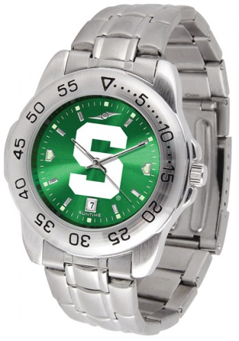 Michigan State Spartans Sport Steel AnoChrome Men's Watch