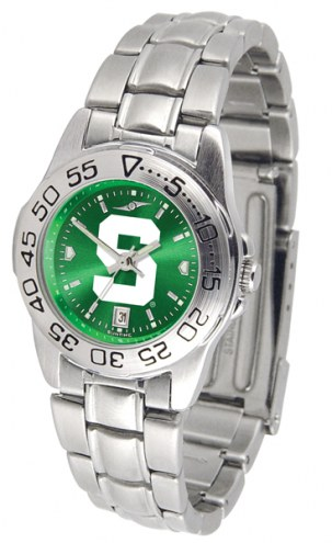 Michigan State Spartans Sport Steel AnoChrome Women's Watch