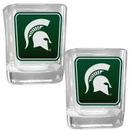 Michigan State Spartans Square Glass Shot Glass Set