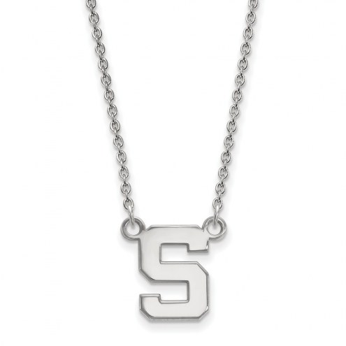 Michigan State Spartans Sterling Silver Small Pendant Necklace