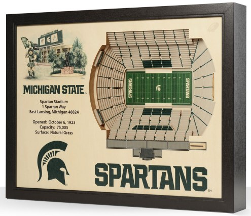 Michigan State Spartans 25-Layer StadiumViews 3D Wall Art