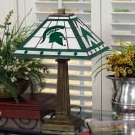 Michigan State Spartans Stained Glass Mission Table Lamp