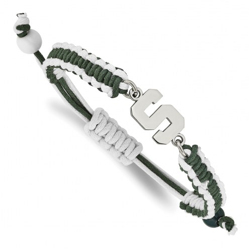 Michigan State Spartans Stainless Steel Adjustable Cord Bracelet