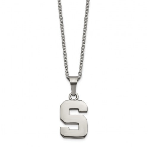Michigan State Spartans Stainless Steel Pendant Necklace