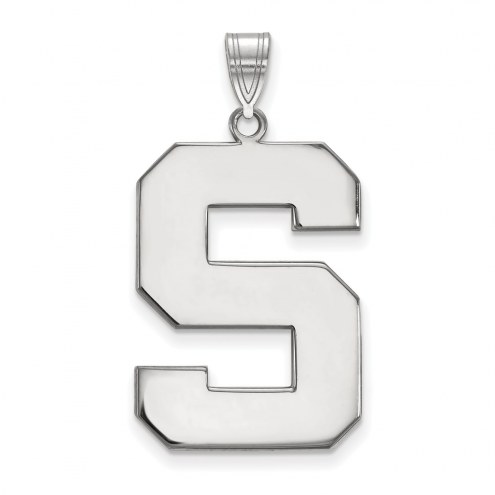 Michigan State Spartans Sterling Silver Extra Large Pendant