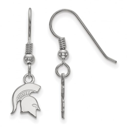 Michigan State Spartans Sterling Silver Extra Small Dangle Earrings