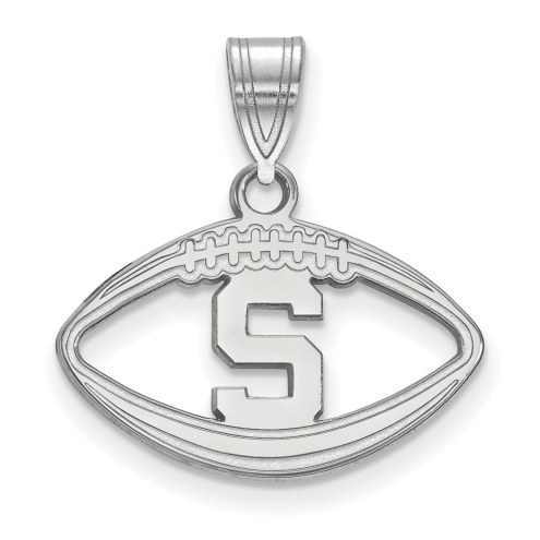 Michigan State Spartans Sterling Silver Football Pendant