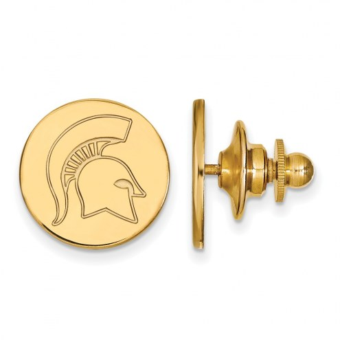 Michigan State Spartans Sterling Silver Gold Plated Lapel Pin