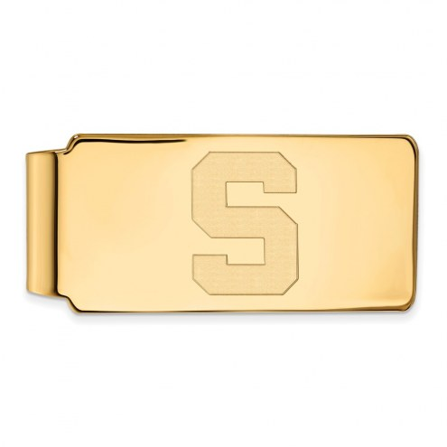 Michigan State Spartans Sterling Silver Gold Plated Money Clip