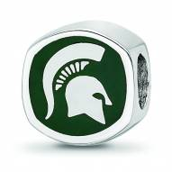 Michigan State Spartans Sterling Silver Logo Bead