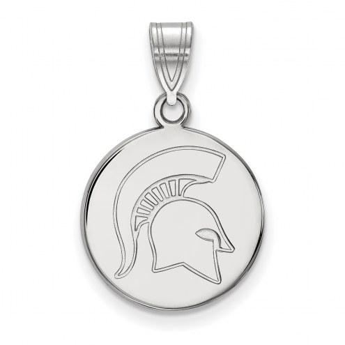 Michigan State Spartans Sterling Silver Medium Disc Pendant