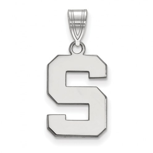Michigan State Spartans Sterling Silver Medium Pendant