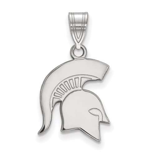 Michigan State Spartans Sterling Silver Medium Pendant