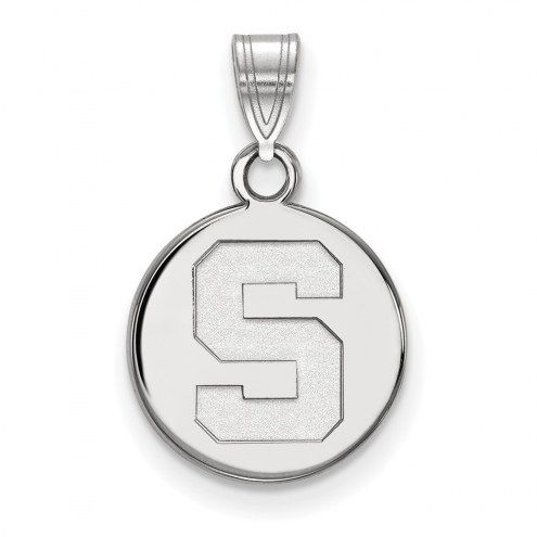 Michigan State Spartans Sterling Silver Small Disc Pendant