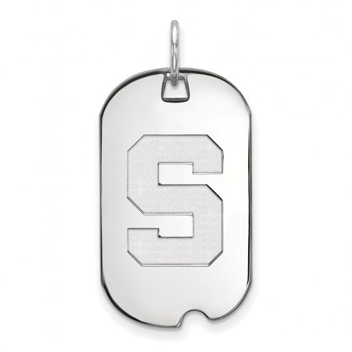 Michigan State Spartans Sterling Silver Small Dog Tag