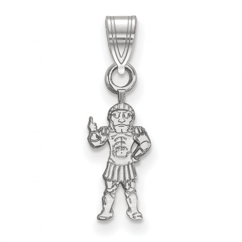 Michigan State Spartans Sterling Silver Small Pendant