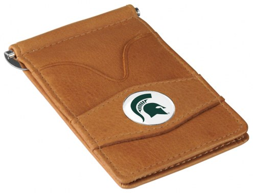 Michigan State Spartans Tan Player's Wallet