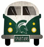 Michigan State Spartans Team Bus Sign