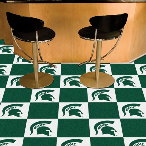 Michigan State Spartans Team Carpet Tiles