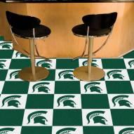 Michigan State Spartans Team Carpet Tiles