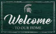 Michigan State Spartans Team Color Welcome Sign