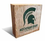 Michigan State Spartans Team Logo Block