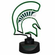 Michigan State Spartans Team Logo Neon Lamp