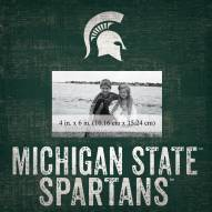 """Michigan State Spartans Team Name 10"""" x 10"""" Picture Frame"""
