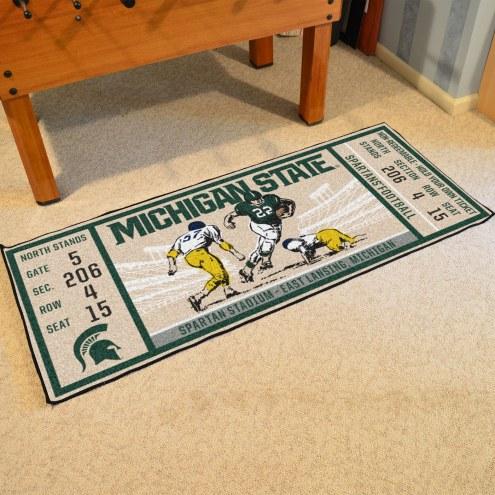 Michigan State Spartans Ticket Runner Rug
