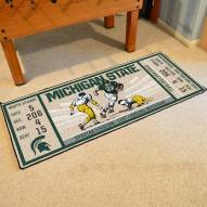 Michigan State Spartans Ticket Runner Rug