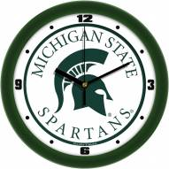 Michigan State Spartans Traditional Wall Clock