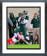 Michigan State Spartans Trae Waynes Action Framed Photo