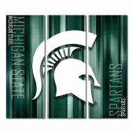 Michigan State Spartans Triptych Rush Canvas Wall Art