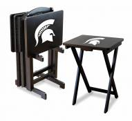 Michigan State Spartans TV Trays - Set of 4