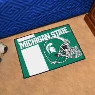 Michigan State Spartans Uniform Inspired Starter Rug