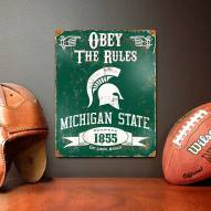 Michigan State Spartans Vintage Metal Sign