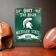 Michigan State Spartans Vintage Metal Sign