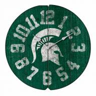 Michigan State Spartans Vintage Round Clock