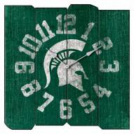 Michigan State Spartans Vintage Square Clock