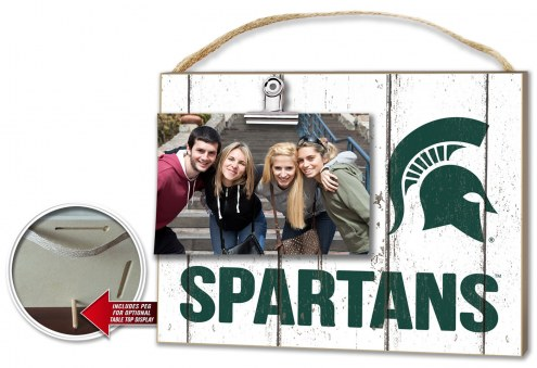 Michigan State Spartans Weathered Logo Photo Frame