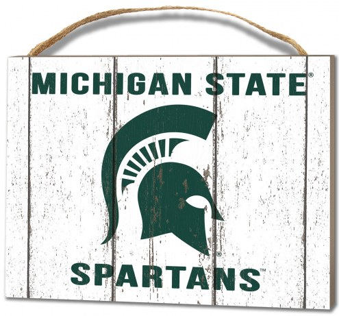 Michigan State Spartans Weathered Logo Small Plaque