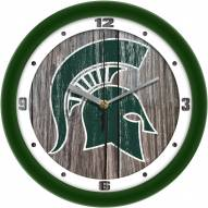 Michigan State Spartans Weathered Wall Clock