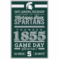 Michigan State Spartans Established Wood Sign