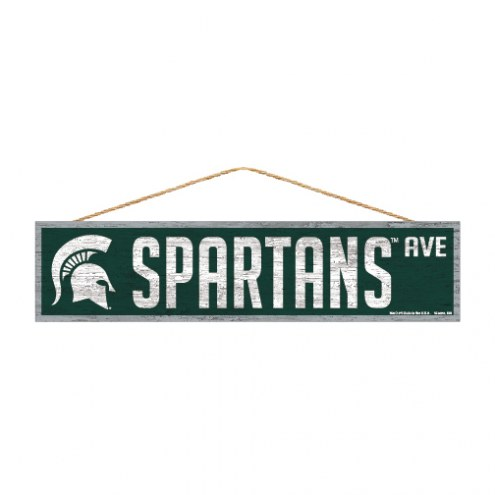 Michigan State Spartans Wood Avenue Sign