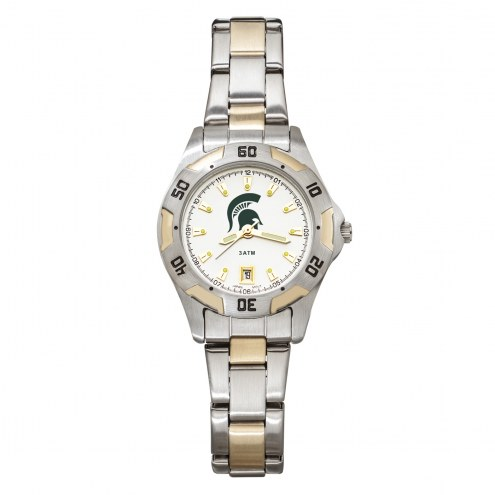 Michigan State Spartans Women's All-Pro Two-Tone Watch