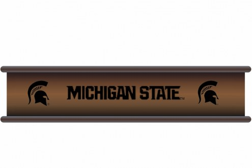 Michigan State Spartans Wood Wall Shelf