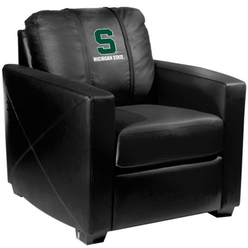 Michigan State Spartans XZipit Silver Club Chair with Secondary Logo