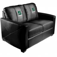 Michigan State Spartans XZipit Silver Loveseat with Secondary Logo